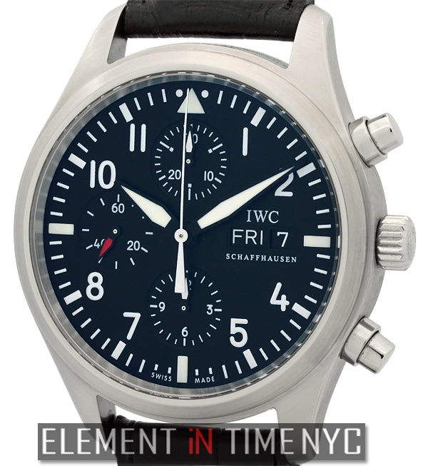 Pilot Chronograph Stainless Steel Black Dial 42mm