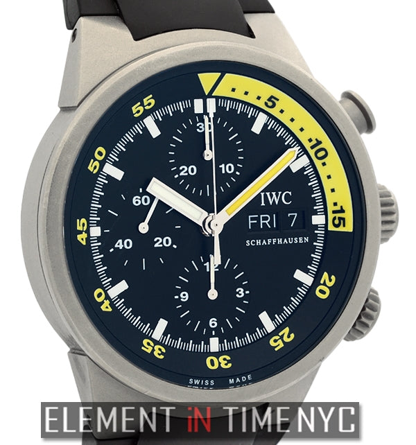 Aquatimer Chronograph Titanium 42mm Black Dial