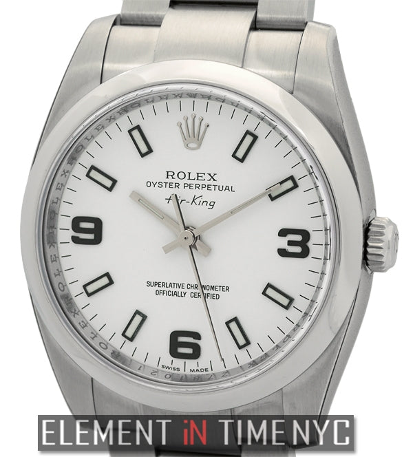 Stainless Steel White Dial 34mm