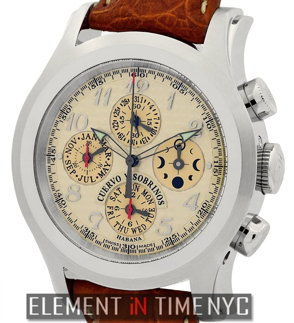 Triple Calendar Chrono Habana Steel