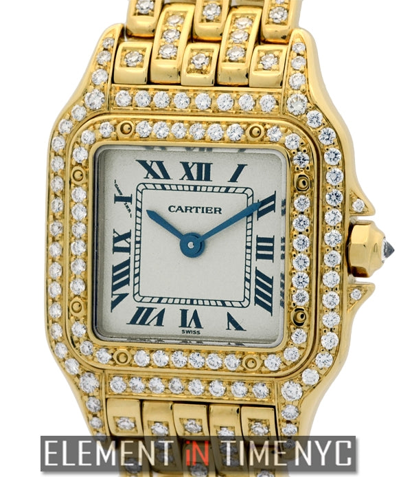 Panthere Ladies 22mm 18k Yellow Gold With Diamonds