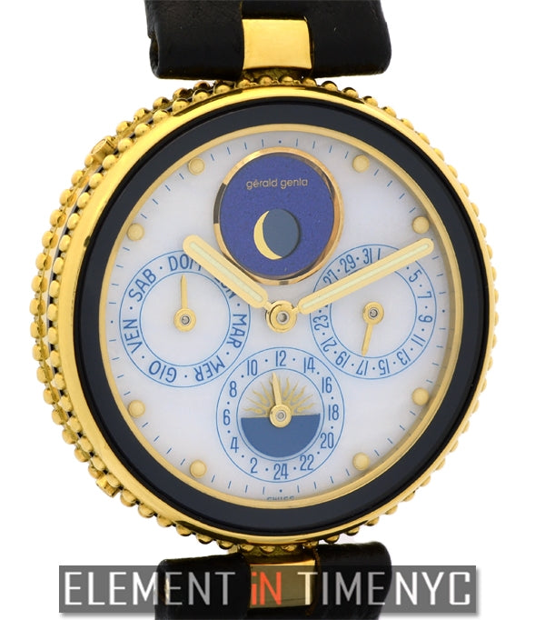 Moonphase Day-Date Alarm GMT 18k Yellow Gold