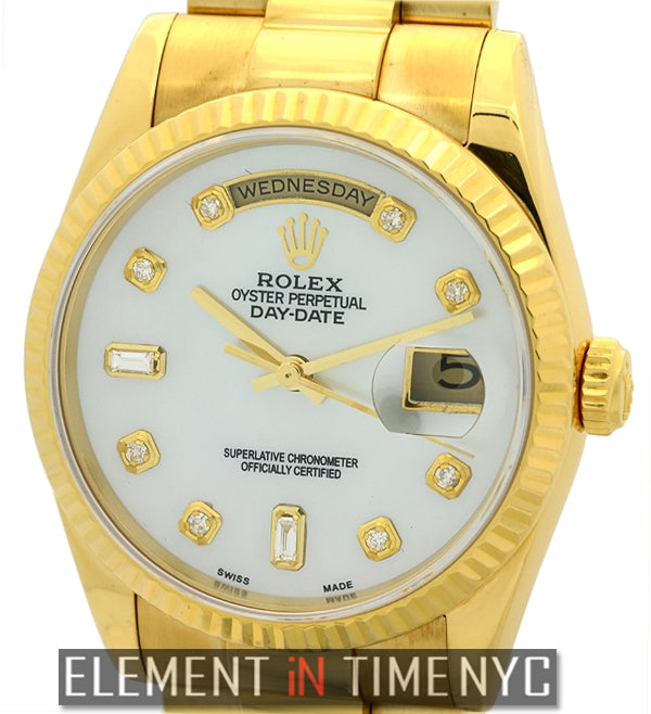 President 18k Yellow Gold MOP Diamond Dial