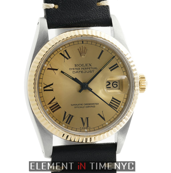 Steel & Yellow Gold 36mm Champagne Roman Dial Circa 1978
