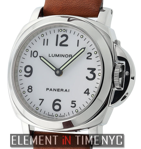 Luminor Base 44mm Stainless Steel White Arabic Dial Circa 1999