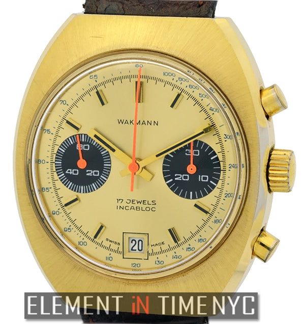 Vintage 3 Register Chrono Gold Plated