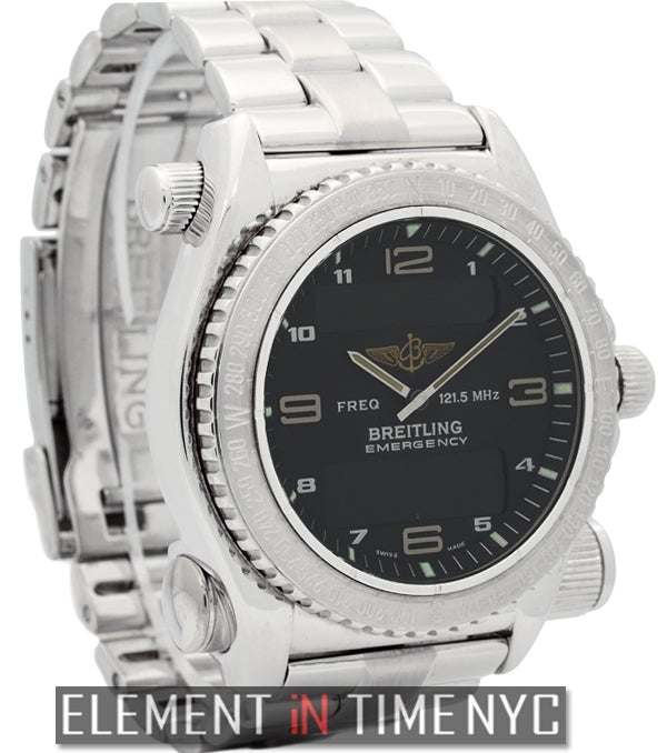 18k White Gold 43mm Black Dial