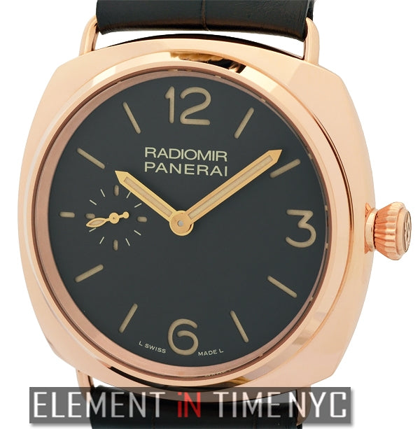 Radiomir 42mm 18k Rose Gold  Tobacco Dial