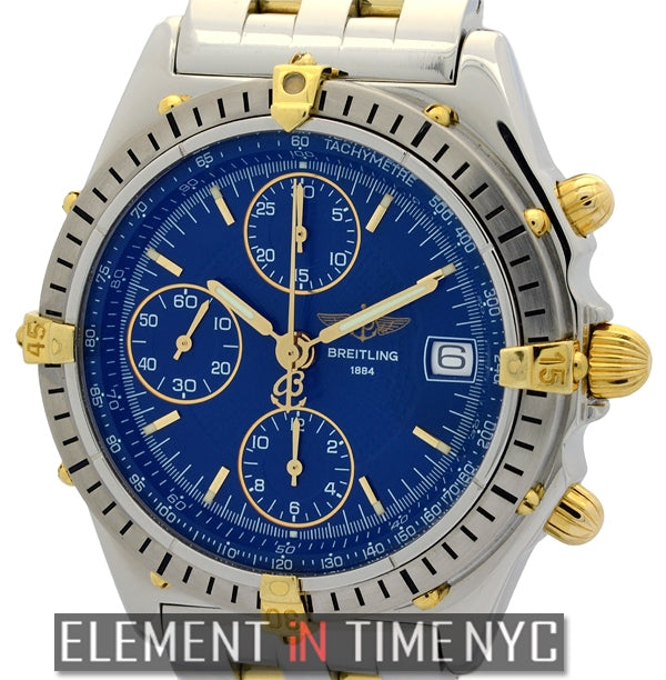 Stainless Steel / 18k Yellow Gold 39mm Blue Dial