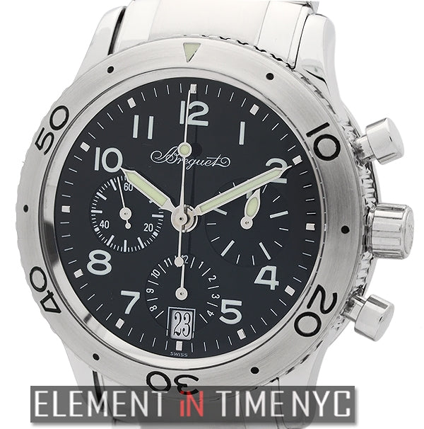 Type XX Transatlantique Chronograph Stainless Steel