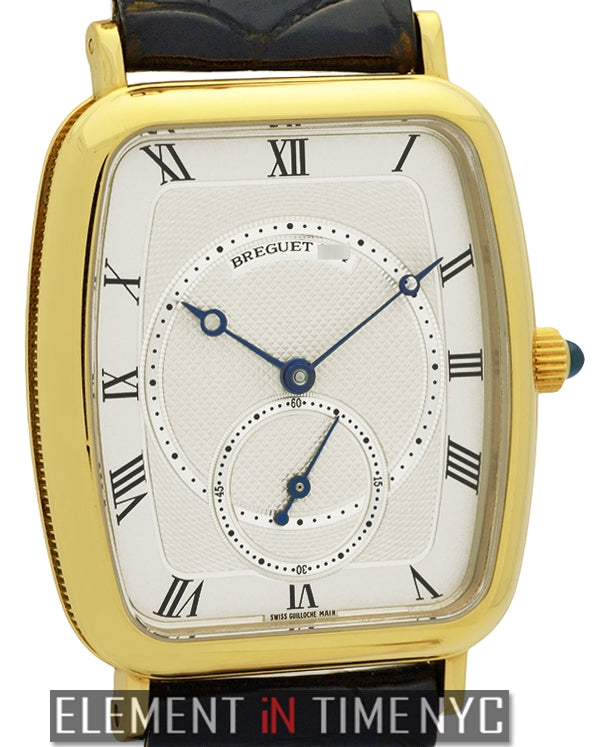 18k Yellow Gold 29mm Silver Roman Dial