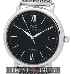 Portofino Date 40mm Stainless Steel Black Dial