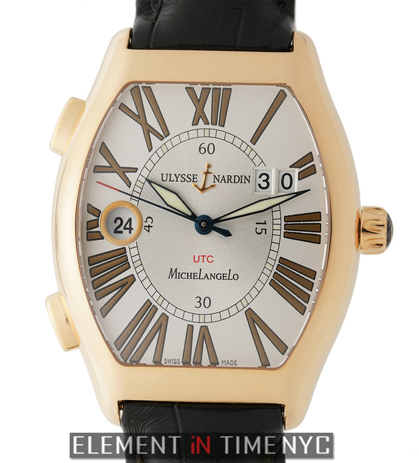 Gigante UTC 18k Rose Gold 38mm SIlver Dial