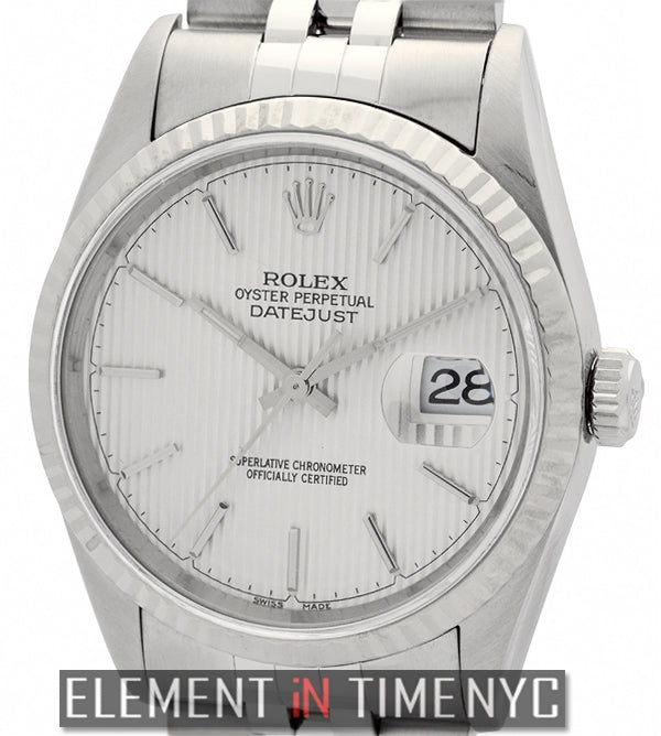 Stainless Steel 36mm Silver Tuxedo Stick Dial Circa 1996