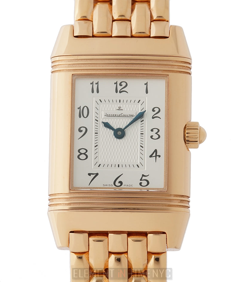 Reverso Duetto Diamond Bezel 18k Rose Gold 21mm