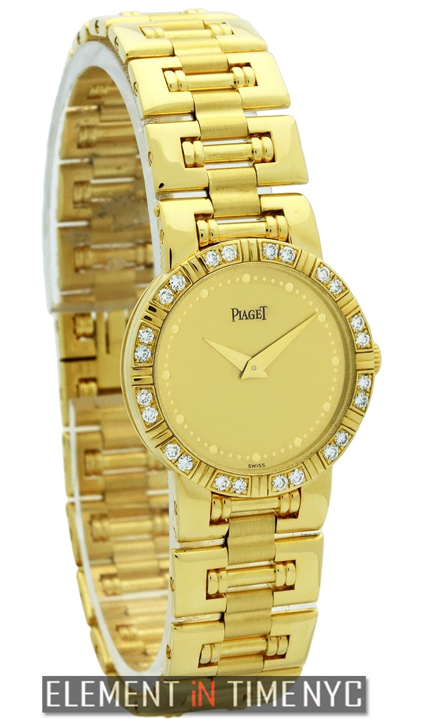 18k Yellow Gold Diamond Bezel