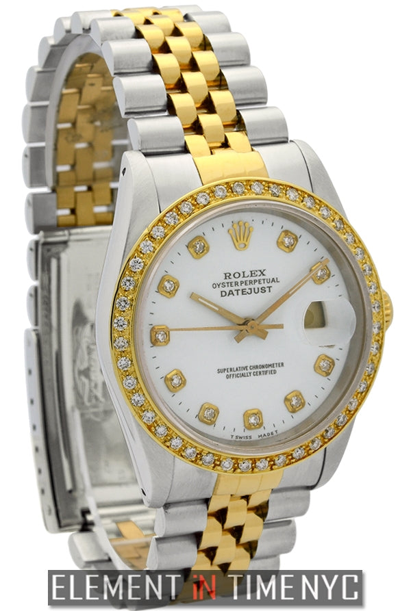Steel & Gold Diamond Dial Diamond Bezel Circa 1989