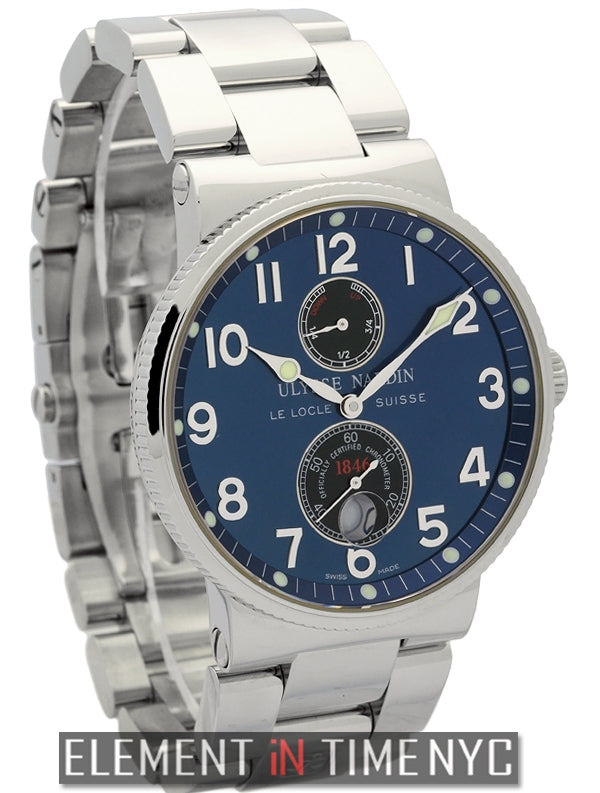 Chronometer 1846 Stainless Steel Blue Dial
