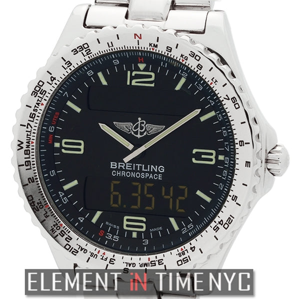 Digital Stainless Steel 41mm Black Dial