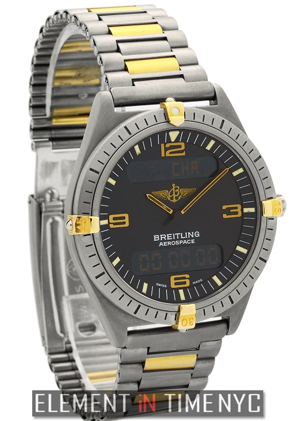 Multifunction Titanium & Gold 40mm