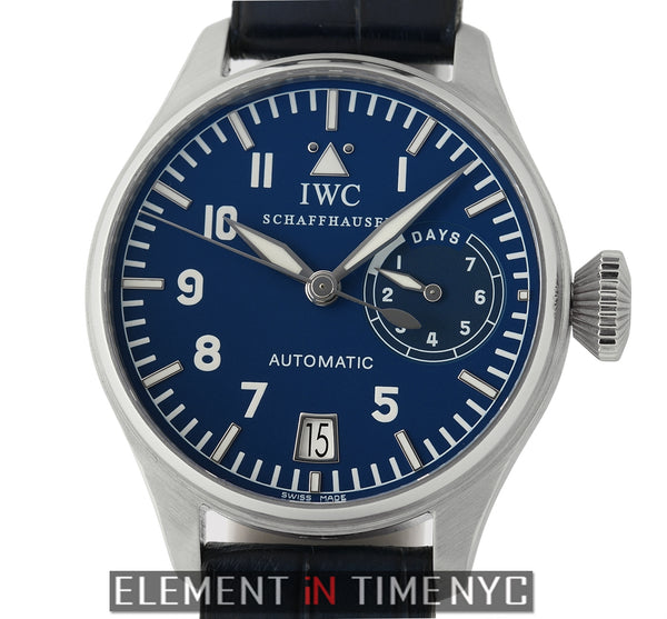 Big Pilot Platinum Blue Dial 46mm LTD ED XXX/500 Fish Crown Slow Beat