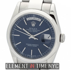 18k White Gold Blue Stick Dial P Series