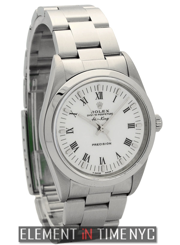 Stainless Steel White Roman Dial 34mm