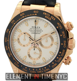 18k Rose Gold Ceramic Bezel Ivory Dial