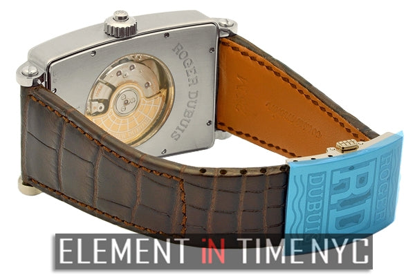 Dual Time 18k White Gold Chocolate Dial