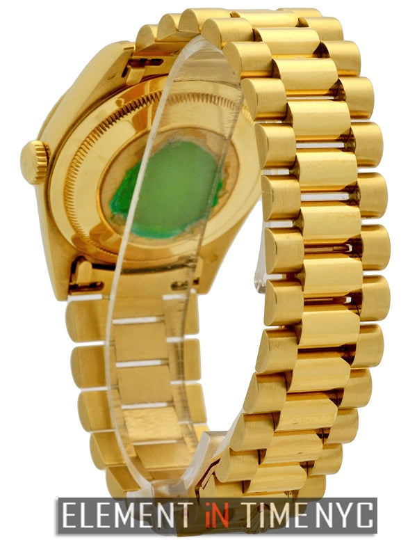 36mm President 18k Yellow Gold Champagne Stick Dial L Series
