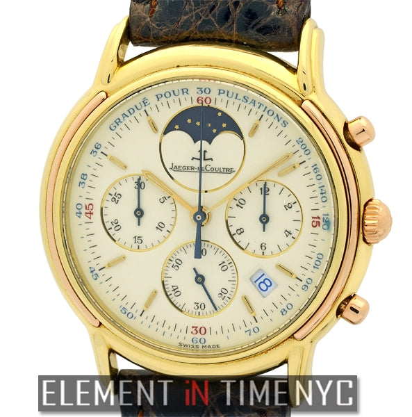 Odysseus 18k Yellow Gold Quartz Chronograph Moonphase