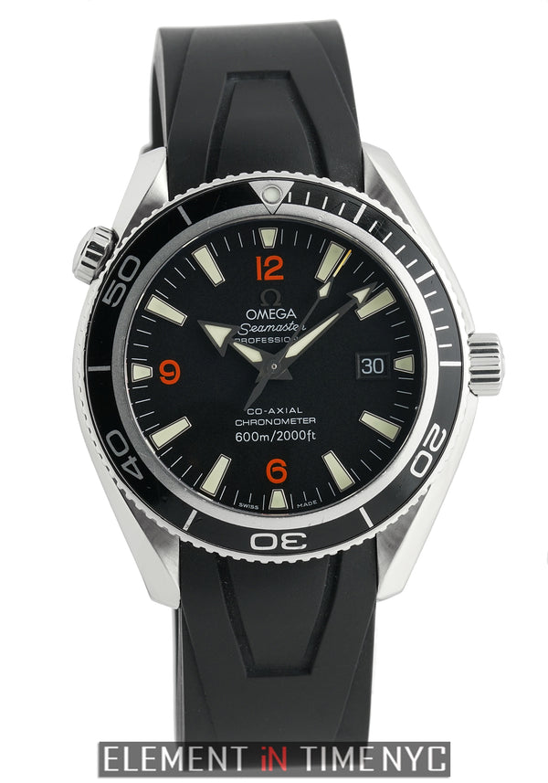 Planet Ocean 42mm Steel On Rubber Strap With Tang Buckle