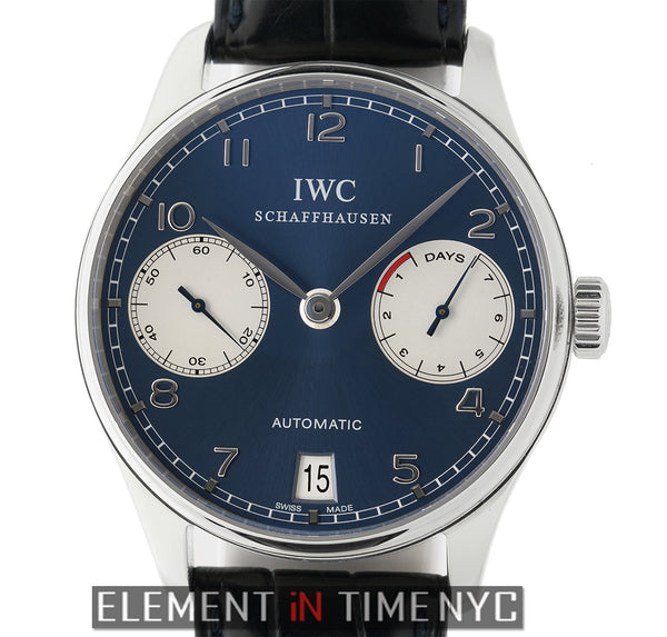 7-Day Power Reserve Steel 42mm Blue Dial Laureus LTD ED