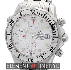 300 M Chrono Diver Stainless Steel White Dial