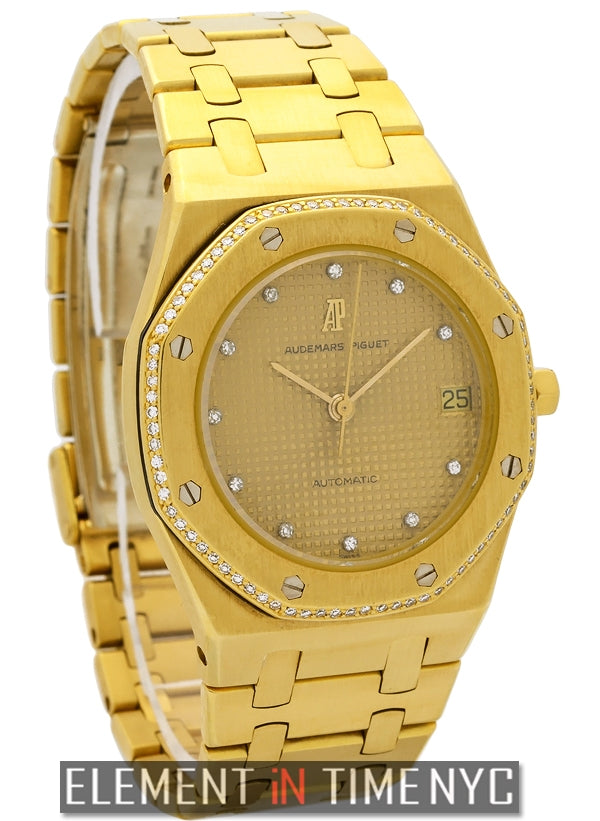 18k Yellow Gold Factory Diamond Bezel & Dial