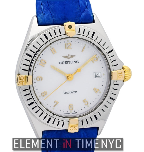 Stainless Steel & 18k Yellow Gold 34mm White Dial