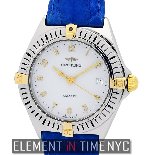 Vintage Stainless Steel & 18k Yellow Gold 34mm White Dial