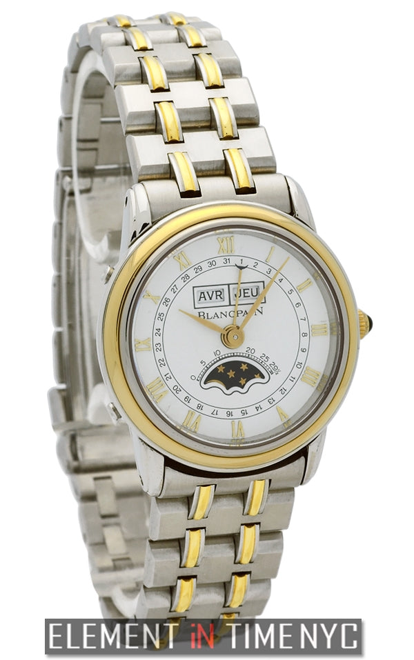 Steel & Gold Ladies Moonphase Complete Calendar
