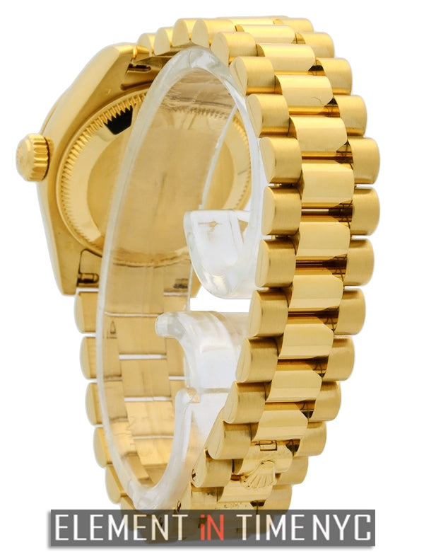 President 26mm 18k Yellow Gold MOP Diamond Dial