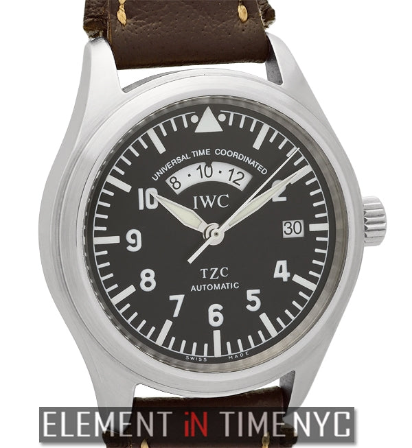 UTC TZC Stainless Steel Black Dial 39mm