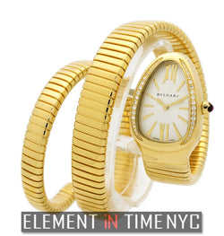 Ladies Tubogas 18k Yellow Gold Quartz 35mm