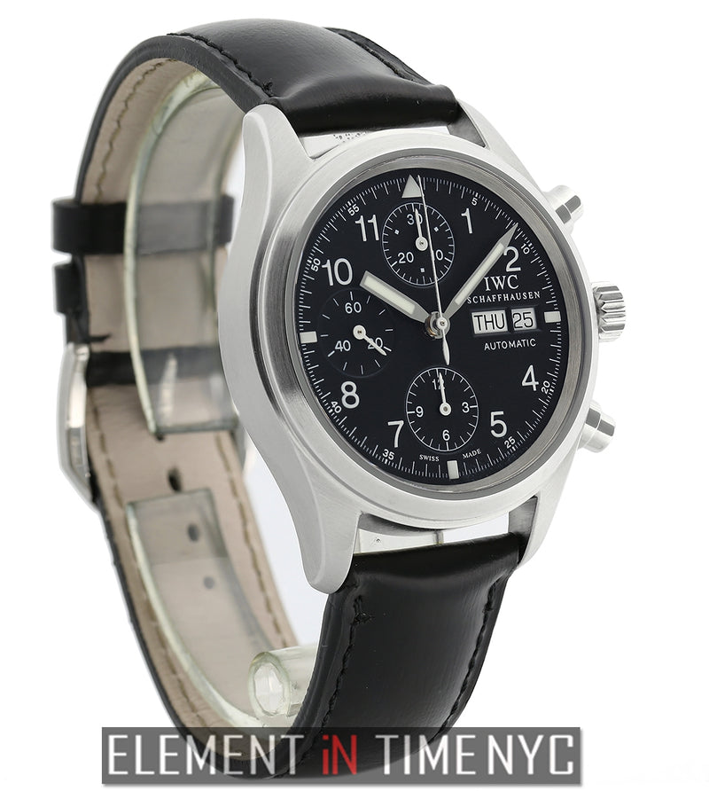 Pilot Chronograph Stainless Steel 39mm Black Dial 2001