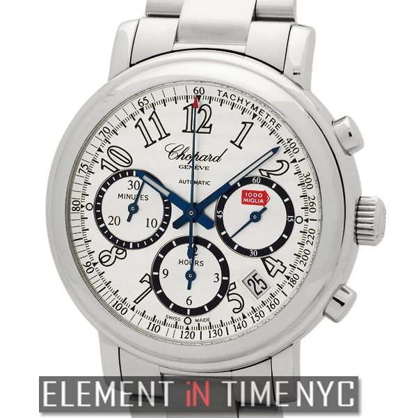 Chronograph Stainless Steel 39mm Silver Dial