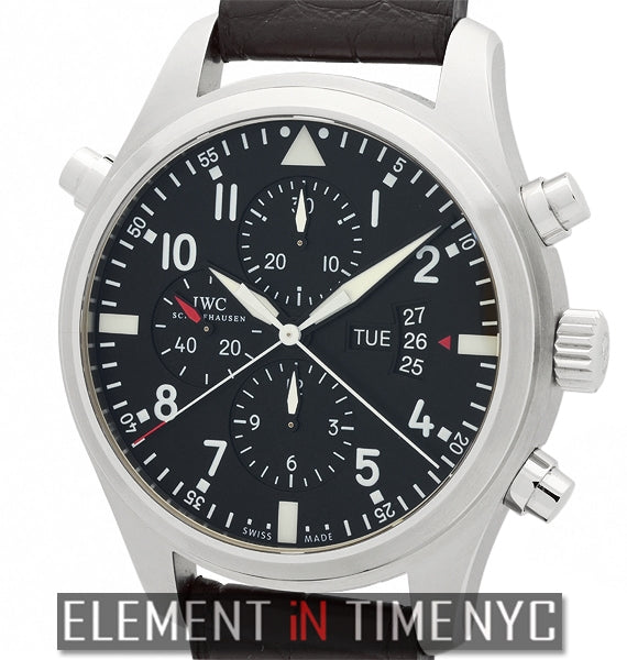 Pilot Double Chronograph 46mm Stainless Steel