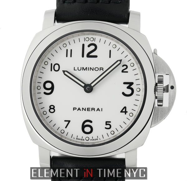 Luminor Base 44mm Stainless Steel White Arabic Dial
