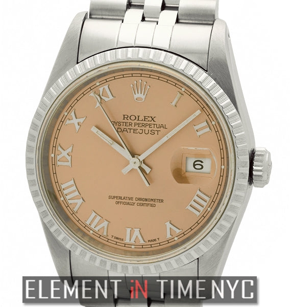 Steel Fluted Bezel Salmon Roman Dial X Serial Circa 1996