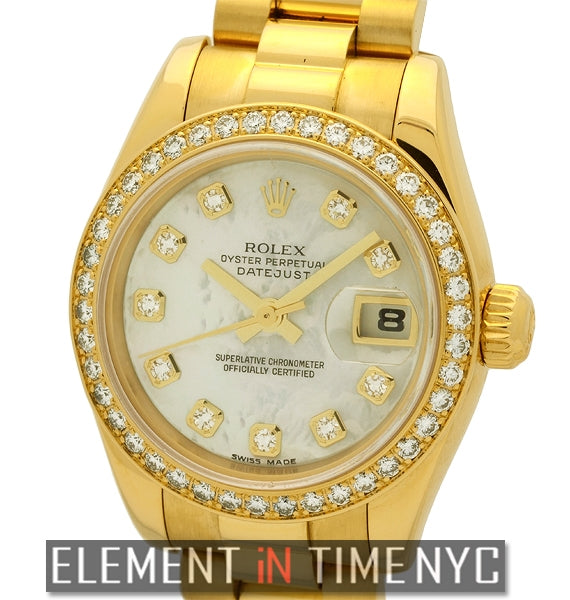 President 26mm Diamond Bezel Diamond MOP Dial