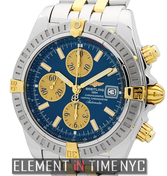 Chronomat Evolution Steel & Gold Blue Dial