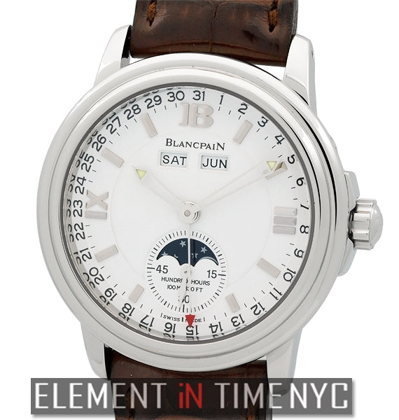 Complete Calendar Moonphase 38mm White Dial