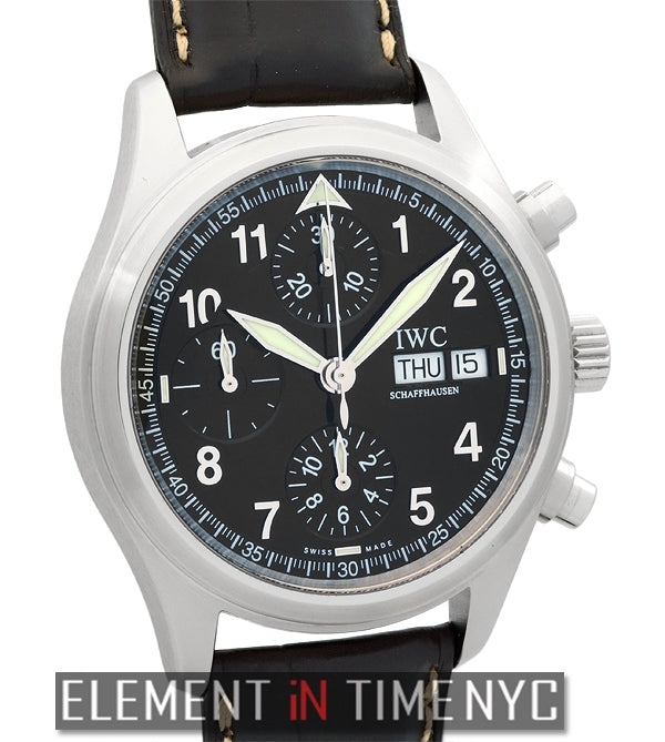 Pilot Chronograph Black Spitfire Dial 39mm
